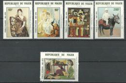 """Niger Aerien YT 299 à 303 """" Tableaux De Picasso """" 1981 Neuf** - Níger (1960-...)"""