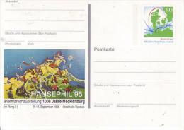 PSO 38**  HANSEPHIL'95  Briefmarkenausstellung 1000 Jahre Mecklenburg WSt. 100 Jahre Nord-Ostsee-Kanal - Cartes Postales - Neuves
