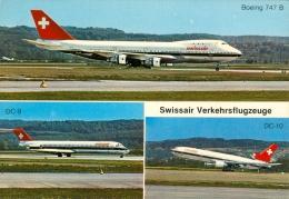 AK Flugzeug Swissair Boeing 747 B DC-90 DC-10 Douglas Aircraft Schweiz Airplane Aeroplane Avion Aviation Aereo Flieger - 1946-....: Moderne