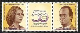 1988-ED. 2927y28 En Triptico-  LOS REYES DE ESPAÑA-NUEVO - 1981-90 Unused Stamps