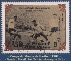 1985 - Asie - Timbre De  Corée  Du Nord - 30 Ch . Finale De Coupe Du Monde De Football 1962 Au Chili - - Coupe Du Monde