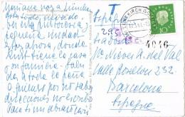 3736. Postal LENZKIRCH (Sachsen) Alemania 1961. Taxe, Tasada - [7] Repubblica Federale