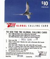 BERMUDA ISL. - Bird, TeleBermuda Prepaid Card $10(black Logo On Reverse), Used
