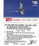BERMUDA ISL. - Bird, TeleBermuda Prepaid Card $10(black Logo On Reverse), Used - Bermuda