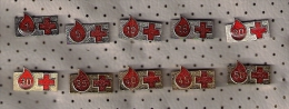 A11  Set Of  Yugoslavia Rotes Kreuz Red Cross Croix-Rouge Lot Blood Donors Donneurs De Sang Blutspender - Medical