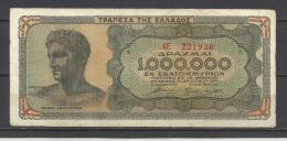 GRECE .  BILLET DE  1000 000 DRACHMAI . 1944 . - Greece