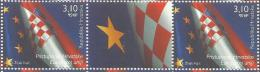 HR 2013-1082 ACCESION OF CROATIA TO THE EUROPEAN UNION, HRVATSKA CROATIA, 2 X 1v + Label, MNH - Briefmarken