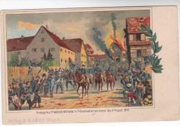 CPA Militaire 1870 : Kronprinz Friedrich Wilhelm In Fröschweiler Am Abend Des 6 August 1870 - Guerres - Autres