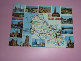 CP 62 Pas-de-Calais  D Apres Carte Michelin N 989 - France