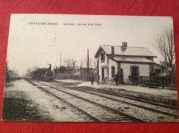 51 CONNANTRE Marne La Gare Arrivée D´un Train Courrier D´un Médecin Auxiliaire SP 186 - Ay En Champagne