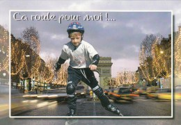ZS44746 Ca Roule Pour Moi Child Enfant Skate Role  Sport    2 Scans - Cartes Postales