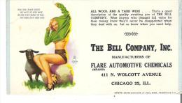 """The Bell Company, Inc. Manufacturers Of Flare Automotive Chemicals, Chicago """"All Wool And A Yard Wide"""" - Automotive"""