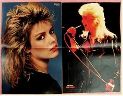 2 Kleine Musik-Poster  Kim Wilde  -  1 Rückseite : Lucy & Mitch ,  Von Popcorn + Bravo Ca. 1982 - Plakate & Poster