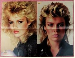 2 Kleine Musik-Poster  Kim Wilde  ,  Von Bravo Ca. 1982 - Plakate & Poster