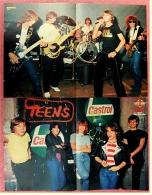 2 Kleine Musik Poster  Gruppe Teens  -  1 Rückseite : Louis De Funes ,  Von Bravo Ca. 1982 - Plakate & Poster