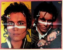 2 Kleine Musik Poster  Adam Ant  -  1 Rückseite : David Coverdale ,  Von Bravo Ca. 1982 - Plakate & Poster