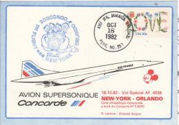 NEW YORK ORLANDO Air France Concorde  Vol Spécial Walt Disney World  18/10/82 - Concorde