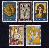 Greece 788-92  *   BYZANTINE  ART - Unused Stamps