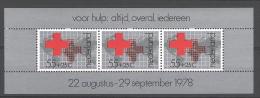 Nederland 1978 Red Cross Croix Rouge Yv BF 18  MNH ** - Blocks & Sheetlets