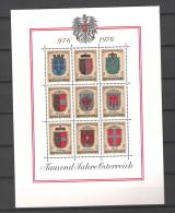 Osterreich 1976 1000 Jahre Osterreich  Yv BF 9  MNH ** - Blocs & Feuillets