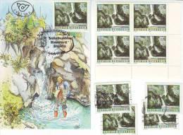 1050w: Österreich 1986, Naturschönheiten- Tschauko- Wasserfall, Maximumkarte Plus **/o - Umweltschutz Und Klima