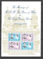 Isle Of Man 1981 Royal Wedding Charles & Diana Sheetlet  Yvert BF 5 MNH ** - Man (Ile De)