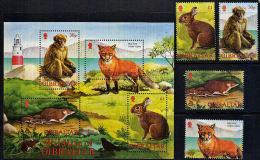E0083 GIBRALTAR 2001, SG 1011 - MS1015 Wildlife Of Gibraltar  MNH - Gibilterra