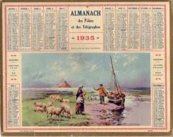 ALMANACH DES POSTES ET TELEGRAPHES DE 1935 - LA BAIE DU MONT SAINT-MICHEL - PREVOIR 1.50 EURO DE PORT.. - Big : 1921-40