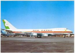 Aviation Postcard-WGA-004-AIR ZAIRE- BOEING 747 - 1946-....: Moderne