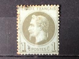 FRANCE YT 25. Napoléon III Lauré.  Oblitéré°. 1870. Côte 20.00€ - 1863-1870 Napoleon III With Laurels