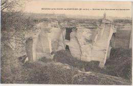 CPA 49 DOUCES Près DOUE LA FONTAINE Entrée Des Carrières Souterraines Exploitation De La Pierre 1908 - France