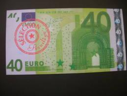 Billet Factice De 40 Euro  De La Vitrine Magique - Notgeld