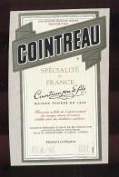 Etiquette De Liqueur  - Cointreau  -  Saint Barthélémy D'Anjou  (49) - Etiquettes