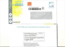 """Enveloppe """"lettre Max Marchandises Orange """" Oblitérée - Postal Stamped Stationery"""
