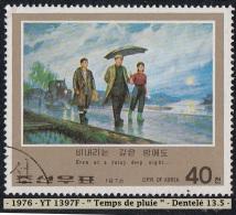 1976 - Asie - Timbre De  Corée  Du Nord - Tableau - 40 Ch. Temps De Pluie - - Arts