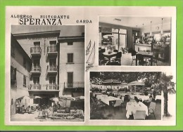 VERONA GARDA ALBERGO RISTORANTE SPERANZA CARTOLINA FORMATO GRANDE VIAGGIATA NEL 1966 - Italia