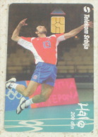 GORAN VUJEVIC ( Serbia Rare Chip Card - Only 30.000 Ex. ) Volleyball Pallavolo Volley Ball Flugball Voleibol Sport - Jugoslawien