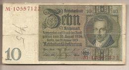 Germania - Banconota Circolata Da 10 Marchi P-180a/1 - 1929 - 10 Mark