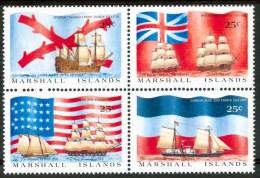 1988 Marshall  Velieri Sailing Boats Bateaux A Voile Set MNH** F14 - Marshall