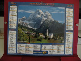 Dolomites Italie,Couchevel, Calendrier Almanach Du Facteur - Oller - 2008 - 2 Photos - Calendars