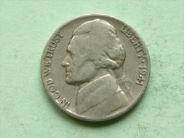 1941 - FIVE CENTS / KM 192 ( Uncleaned Coin / For Grade, Please See Photo ) !! - 1909-1958: Lincoln, Wheat Ears Reverse