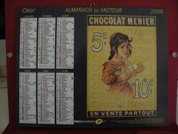 Chocolat Menier / Beurre D'Isigny, Calendrier Almanach Du Facteur - Oller - 2008 - 2 Photos - Calendriers
