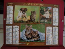 Petit Chat, Chien Et Poussin , Calendrier Almanach Du Facteur - Oller - 2008 - 2 Photos - Grand Format : 2001-...