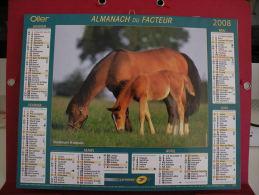 Trotteurs Français / Bergers Allemands, Calendrier Almanach Du Facteur - Oller - 2008 - 2 Photos - Calendriers