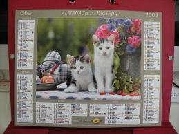 Les Chatons , Calendrier Almanach Du Facteur - Oller - 2008 - 2 Photos - Calendriers