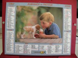 Les Enfants Et Nos Amis , Calendrier Almanach Du Facteur - Oller - 2008 - 2 Photos - Calendriers