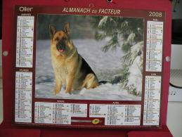 Berger Allemand / Labradors , Calendrier Almanach Du Facteur - Oller - 2008 - 2 Photos - Calendriers