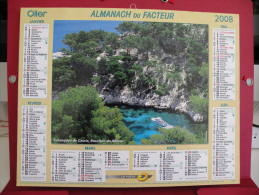 Calanques De Cassis / île De Porquerolles , Calendrier Almanach Du Facteur - Oller - 2008 - 2 Photos - Calendriers