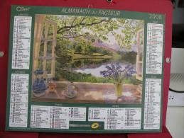 Tableaux , Calendrier Almanach Du Facteur - Oller - 2008 - 2 Photos - Calendriers
