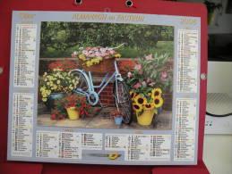 Décor De Fleur, Calendrier Almanach Du Facteur - Oller - 2008 - 2 Photos - Calendriers